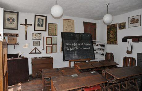 Klassenzimmer im Dorfmuseum Mönchhof