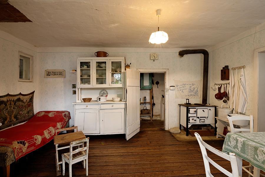 Stube in einem Wohnhaus im Dorfmuseum Mönchhof